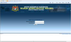 Module login page (admin)
